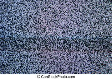 électricité statique télévision