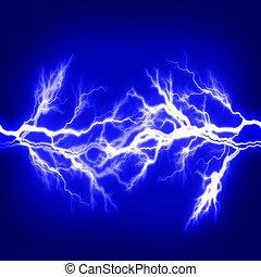 électricité, symbolizing, énergie, pur, puissance