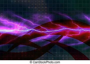 électricité, toile de fond