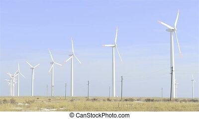 électricité, turbines, vent