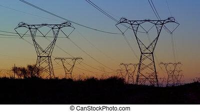électrique, 4k, pendant, coucher soleil, polonais