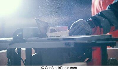 électrique, bois, charpentier, découpage, scie, planche, circulaire