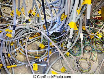 électrique, câbles