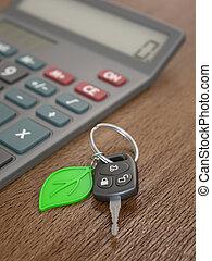 électrique, calcul, voiture, hybride, dépenses, ou