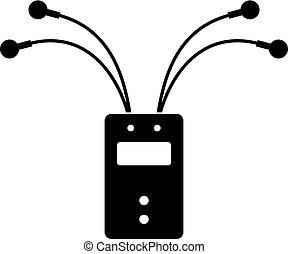 électrique, cellules, potentiel, electromyograph, détecteur,...