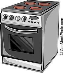 électrique, cuisinière