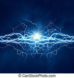 électrique, effet, arrière-plans, résumé, techno, éclairage,...