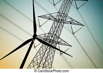 électrique, equipments, silhouette