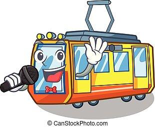 électrique, forme, train, jouets, chant, mascotte