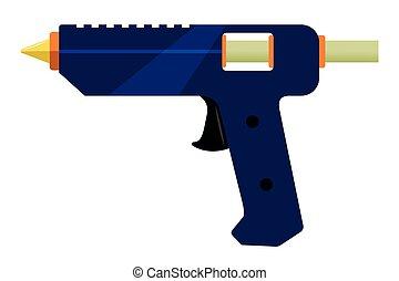 électrique, fusil, colle