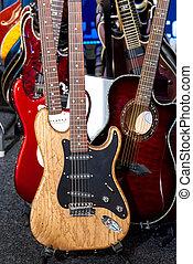 électrique, guitars.
