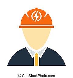 électrique, icône, ingénieur