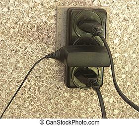 électrique, outlet.
