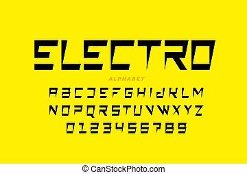 électrique, police, style