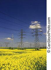 électrique, pylônes