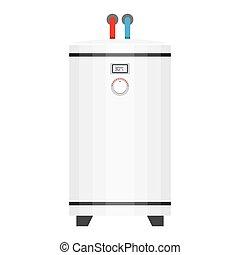 électrique, style, chaudière, eau, plat, heater.