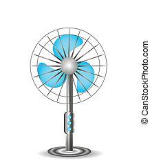 électrique, table, illustration, ventilateur
