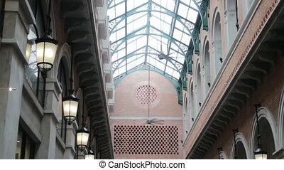électrique, ventilateur plafond, marché, local