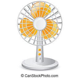 électrique, ventilateur table