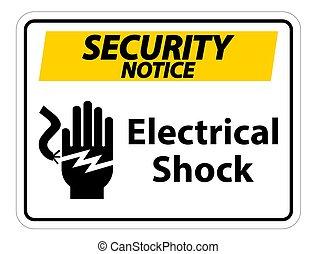 électrocution, choc, signe, .eps10, symbole, électrique,...