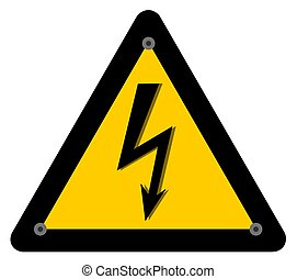 électrocution, risque, panneau