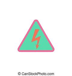 électrocution, vecteur, icône