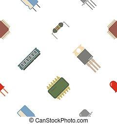 électronique, seamless, fond