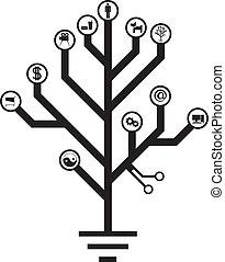 électronique, vie, arbre