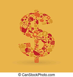 élelmiszer, dollár