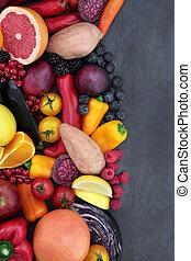 élelmiszer, egészség, jó being