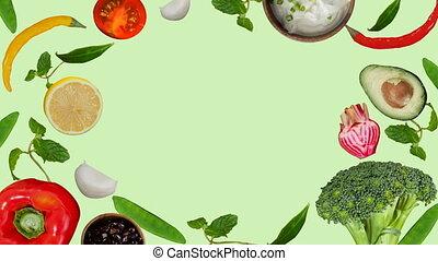 élelmiszer, egészséges, digitally kivált, video