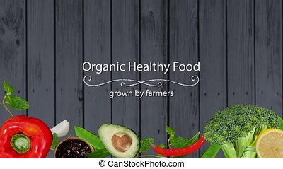 élelmiszer, egészséges, digitally kivált, video, szerves