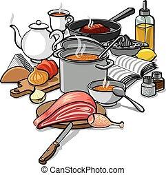 élelmiszer, főzés