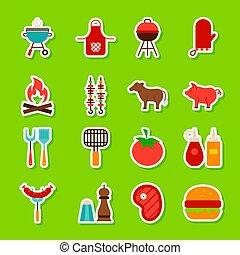 élelmiszer, grillsütő, böllér