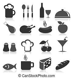 élelmiszer, ikon