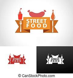 élelmiszer, jel, utca