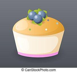 élelmiszer, jelkép, gyorsan, gyakorlatias, vektor, ábra, sablon, torta, ikon, karikatúra, retro