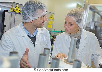 élelmiszer, munkás, szériagyártás