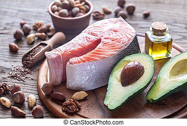élelmiszer, noha, omega-3, hizlal