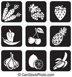 élelmiszer, (part, ikonok, 4)