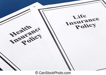 élet, és, health biztosítás