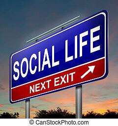 élet, concept., társadalmi