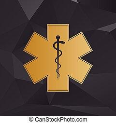 Élet, csillag, szükséghelyzet, orvosi,  -, elszigetelt, háttér, vektor, fehér, jelkép, ikon