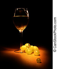 élet, mozdulatlan, bor, este