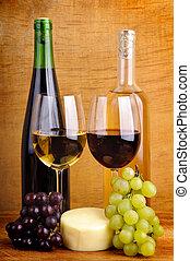 élet, mozdulatlan, bor