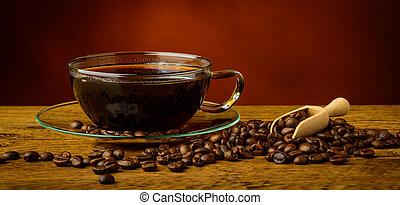 élet, mozdulatlan, kávécserje