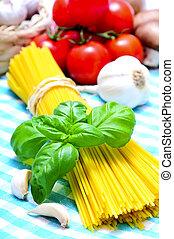 élet, mozdulatlan, spagetti