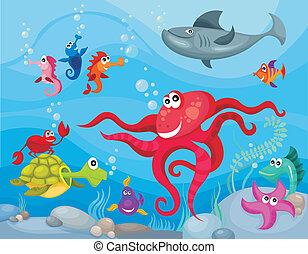 élet, tenger