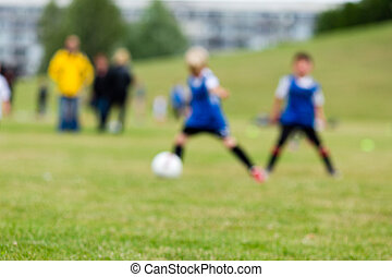 életlen, gyerekek, képben látható, futball esik