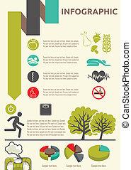 életmód, infographic, egészséges